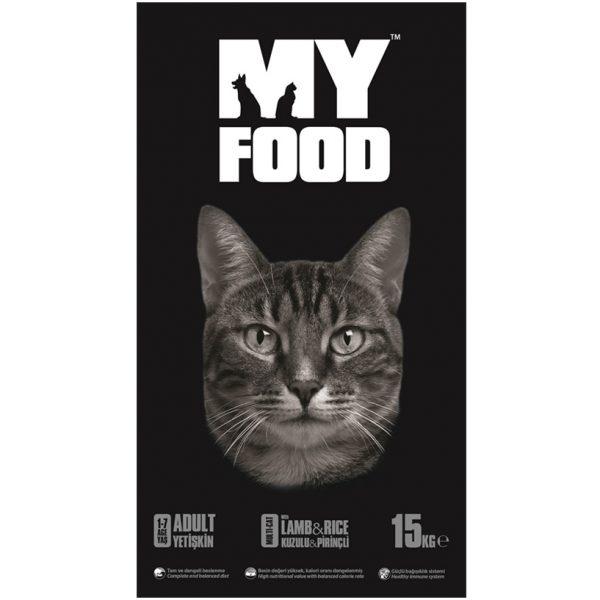 MY Food Kuzu Etli Kedi Maması 15 Kg.