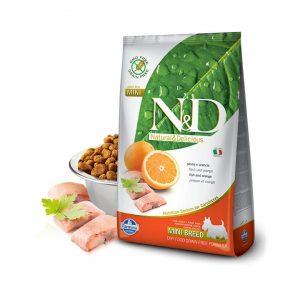 N&D Tahılsız Balıklı Portakallı Mini Yetişkin Köpek Maması 2,5 Kg