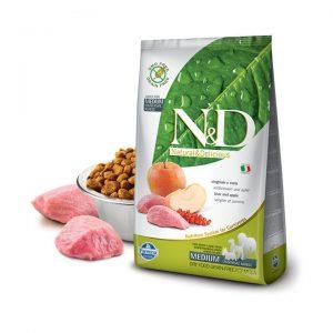 N&D Tahılsız Yaban Domuzu Etli ve Elmalı Medium Yetişkin Köpek Maması 2,5 Kg
