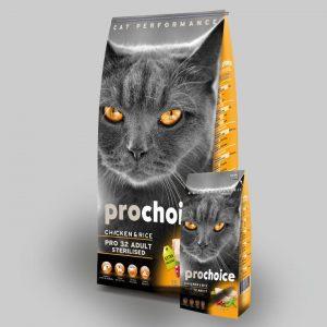 Pro Choice 32 Sterilised Cat (Kısırlaştırılmış Tavuklu) Kedi Maması 15 Kg