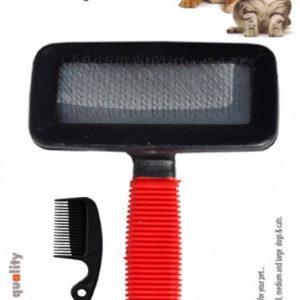 Luxury Paws Soft Saplı Fırça (Temizleyici Taraklı) XL 18 cm