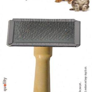 Luxury Paws Ahşap Saplı Metal Fırça XL 19 cm