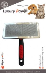Luxury Paws Plastik Saplı Metal Fırça Large 14 cm