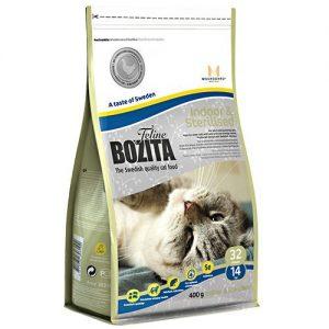 BOZITA Feline İndoor&Sterilized Kısırlaştırılmış Yetişkin Kedi Maması 400 Gr