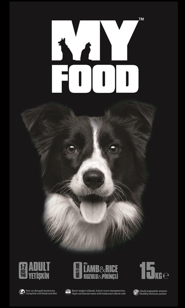 My Food Kuzu Etli Pirinçli Köpek Maması 15 KG